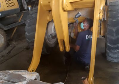 Painting Wheel Loader