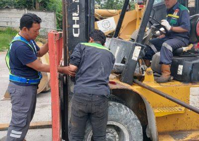 Perbaikan Silinder Forklift milik PT. PP Urban - Sadang